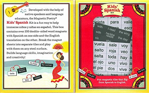 Magnetic Poetry - Kids' Spanish Kit - Ages 5 and Up - Wor...