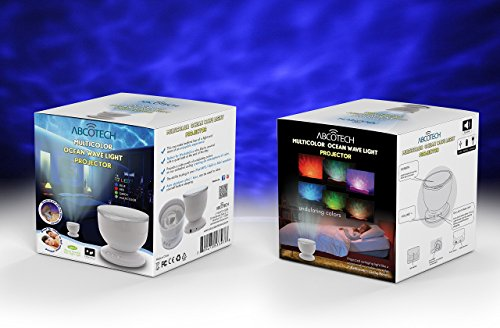 Abco Tech ABC2050 Tech Multicolor Ocean Wave Light Projector, 12 LED, BLUE, RED, GREEN, MULTICOLOR, MP3 iPhone Speaker LED Night Light