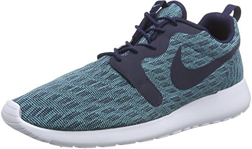 NikeRosherun Kjcrd - Zapatillas de Running Hombre Azul - Blau (Midnight Navy/Midnight Navy/Light Aqua)