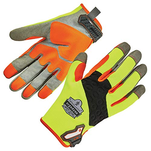 (ProFlex 710 Heavy Duty Work Gloves, High Visibility, Reinforced Fingertips and Palm, Medium)