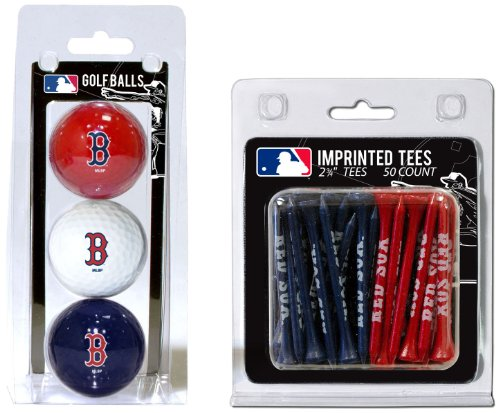 Team Golf MLB Boston Red Sox Logo Imprinted Golf Balls (3 Count) & 2-3/4