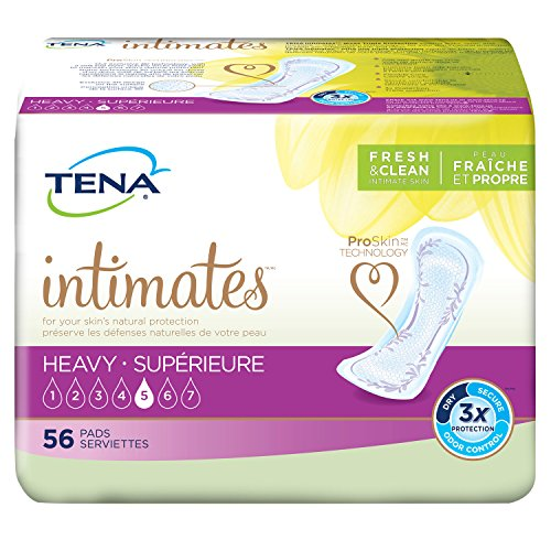 TENA Incontinence Pads for Women, Heavy, Regular, 56 Count ()