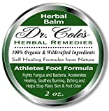 Dr. Cole's Organic Athletes Foot Treatment – Extra Strength, Natural, Anti-fungle Herbal Remedy Ointment – Kills Fungus, Soothes Itchy, Scaly or Cracked Feet – Sanitizes Fungus & Infected Toenails
