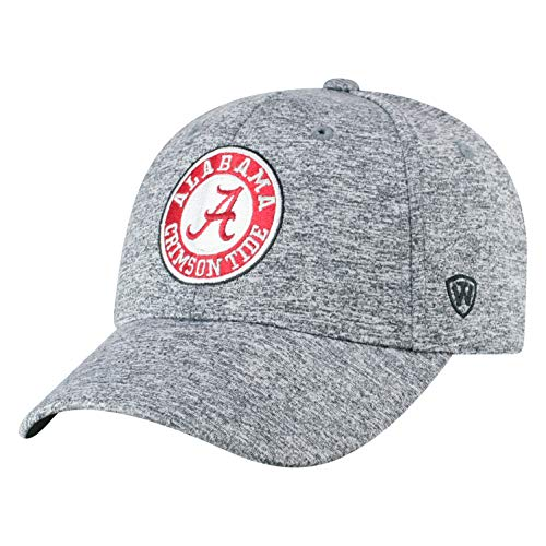 Top of the World Alabama Crimson Tide Men's Hat Icon, Charcoal, Adjustable