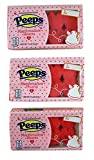 Peeps Valentine's Day Mini Marshmallow Heart Candy, 8 Count, Pack of 3