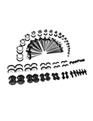 72 Pieces Ear Stretching Kit 14G-00G Plugs and Tapers 14G-00G Gauges Set 36 Pairs