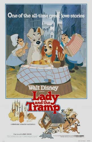 Amazon Com Lady And The Tramp Poster Movie 27 X 40 Inches 69cm X 102cm 1955 Style G Posters Prints