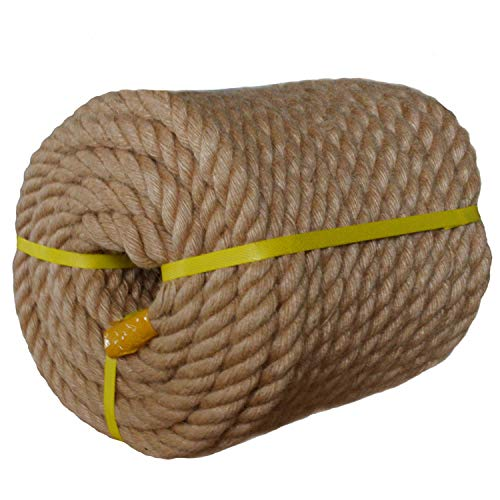 - Twisted Manila Rope Jute Rope (1 in x 100 ft) Natural Thick Hemp Rope for Crafts, Nautical, Landscaping, Railings, Hanging Swing