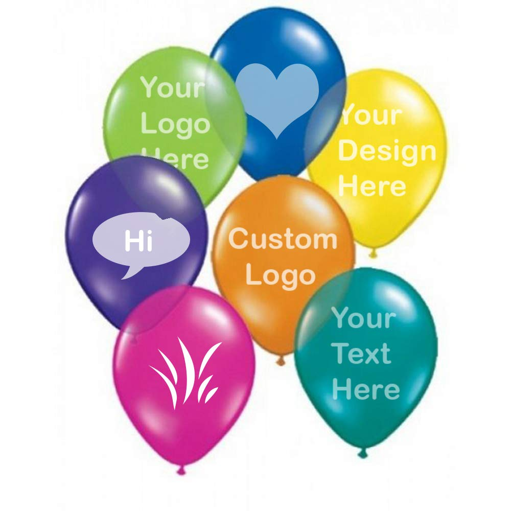 10'' Latex Custom Printed Balloons-1000 Quantity -0.129 Each- with Your Logo/Artwork or Message