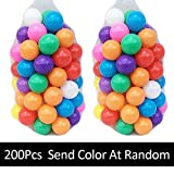 Mazhashop 200pcs Colorful Ball Fun Ball Soft Plastic Ocean Ball Baby Kid Toy Swim Pit Toy(5.5CM)