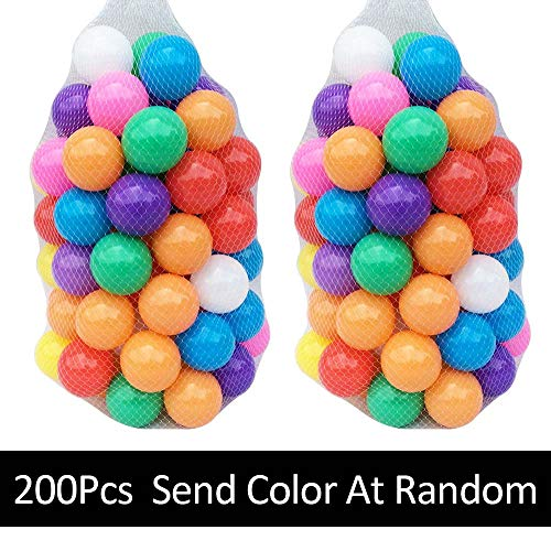 Mazhashop 200pcs Colorful Ball Fun Ball Soft Plastic Ocean Ball Baby Kid Toy Swim Pit Toy(5.5CM) by Mazhashop