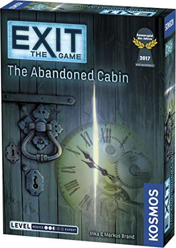 Exit: The Abandoned Cabin | Exit: The Game - A Kosmos Game | Kennerspiel Des Jahres Winner | Family-Friendly, Card-Based at-Home Escape Room Experience for 1 to 4 Players, Ages 12+ (No Retreat Board Game)