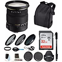 Sigma 17-50MM F2.8 EX DC OS HSM Zoom Lens for Canon with 32GB Accessory Bundle