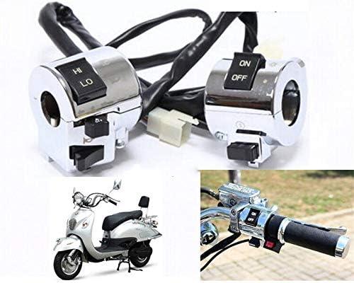 JPLJJ オートバイスイッチホーンターンシグナルヘッドライトコントロールボタンアクセサリーアルミ電装品ハンドルバー (色 : One pair)