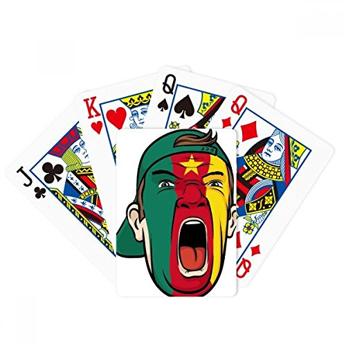 (DIYthinker Cameroon Flag Facial Mask Screaming Cap Poker Playing Cards Tabletop Game Gift)