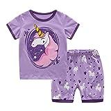MyFav Big Girls Little Girls' Pretty Horse Pajamas Cute Mermaid Cotton Sleepwear 2PCS