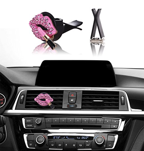 car bling interior accessories mini factory car air vent rhinestone diamond decoration pink. Black Bedroom Furniture Sets. Home Design Ideas
