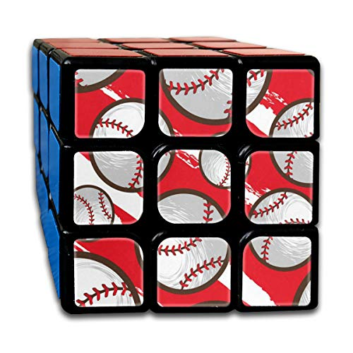 aseball Vintage Speed Cube 3x3 Smooth Magic Cube Puzzle Game Black ()