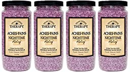Village Naturals Therapy Aches and Pains Nighttime Relief Mineral Bath Soak 20 oz 4 count