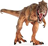 Lifeliko Tyrannosaurus Rex Toy Action Figure - Realistic Design Jurassic Park T-Rex Dinosaur Toy - Ideal Gift for Toddlers or even Grown up Boys - Moving Jaw, Natural Color and Exquisite Details