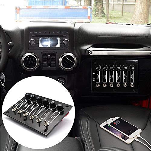 WonVon Fiber Trim Central Control,Carbon Fiber Panel Frame Cover Trim Decoration Sticker for Ford Mustang 2015-2017 Car Accessories Styling