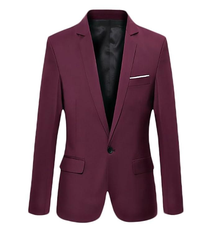 Blazer Hombre Elegantes Casual Slim Fit Cuello Solapa Chaquetas Negocios Office Wear Chaqueta Americana Hombre b9Pu9Z