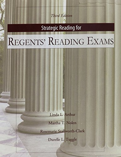 Strategic Reading for Regents Reading Exams: Mastery of...