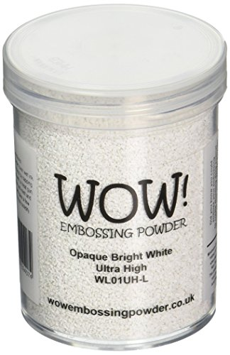 Wow Embossing Powder Embossing Powder Ultra High Large Jar, 160ml, Opaque Bright White by Wow Embossing Powder