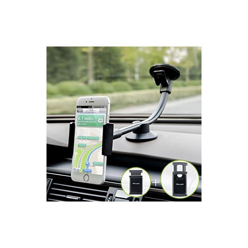 Car Phone Mount, Newward 2 Clamps Long A