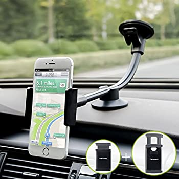 ... 2 Clamps Long Arm Universal Windshield Dashboard Cell Phone Holder for iPhone X 8 7 Plus 6 6s Plus 5s SE,Samsung Galaxy S9 S8 S7 S6 S5 Note,Google,LG ...