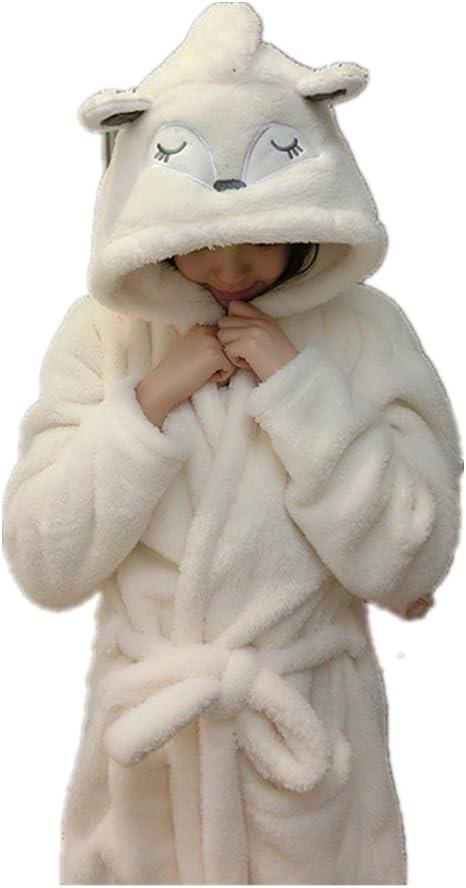 TALLA M. JYSPORT Mujer peignoirs para cámara Abrigo del Matin Saunamantel lencería Animal Cosplay Disfraz