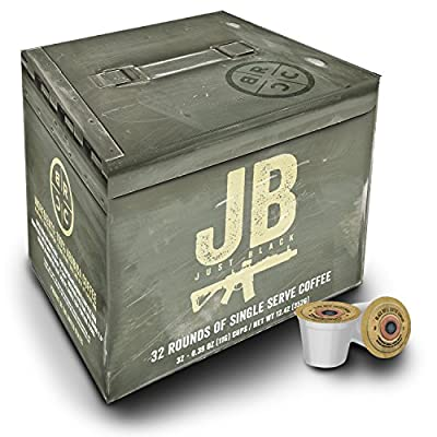 "Black Rifle Coffee Company JB ""Just Black"" Coffee Rounds for Single Serve Brewing Machines"