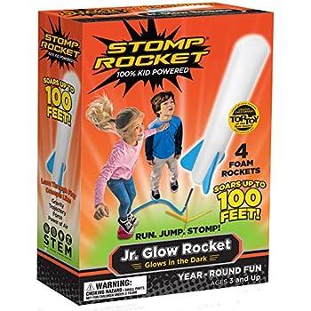 Stomp Rocket The Original Jr. Glow, 4 Rockets (Packaging May Vary)