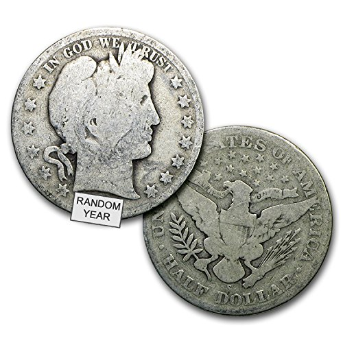 Half Dollar Coin Values - (1892-1916) 90% Silver Barber Half Dollars ($1 Face Value ) 1/2 Average Circulated to VG
