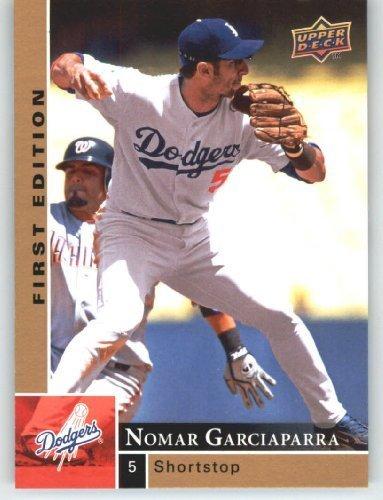 Nomar Garciaparra - Dodgers - 2009 Upper Deck First Edition Baseball Card # 154 - MLB Trading Card