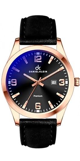 Reloj Daniel Klein Negro en Acero Rosa Reloj Daniel Klein de esfera negra en acero rosa
