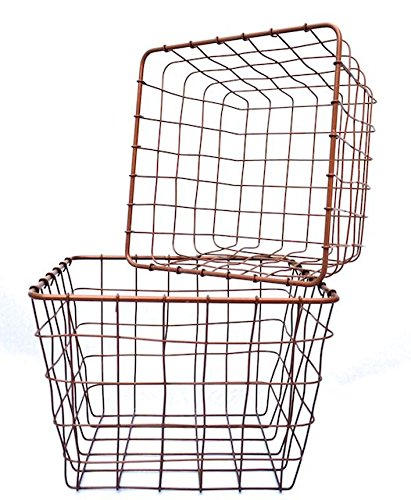 Drahtkorb Set groß, Aufbewahrungskorb quadratisch 2er-Set, Deko ...