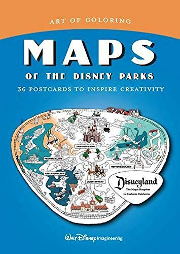 Art of Coloring: Maps of the Disney Parks: 36 Postcards to Inspire Creativity