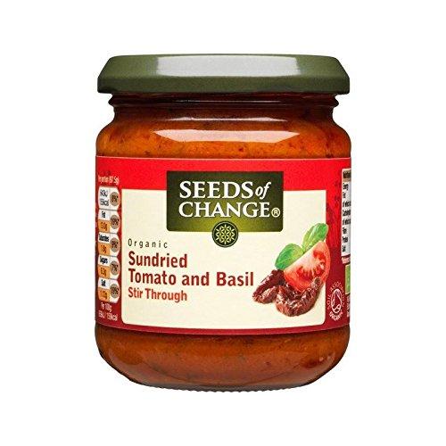 Semillas Del Cambio Tomate Y Albahaca 195 G De Salsa Para Pasta - Paquete de 6