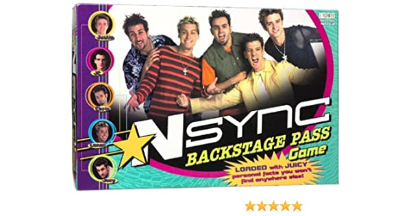 Amazon com: Nsync Backstage Pass Game by Patch: Toys & Games