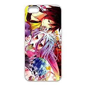 iPhone 5 5s Cell Phone Case White No Game No Life Phone Case Cover Active Custom XPDSUNTR33585