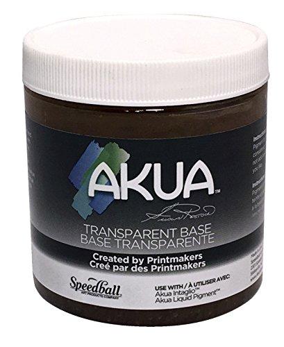 (Akua Intaglio IITB Water Based Ink, Non-Toxic, 8 oz. Jar, Transparent Base, 2.7