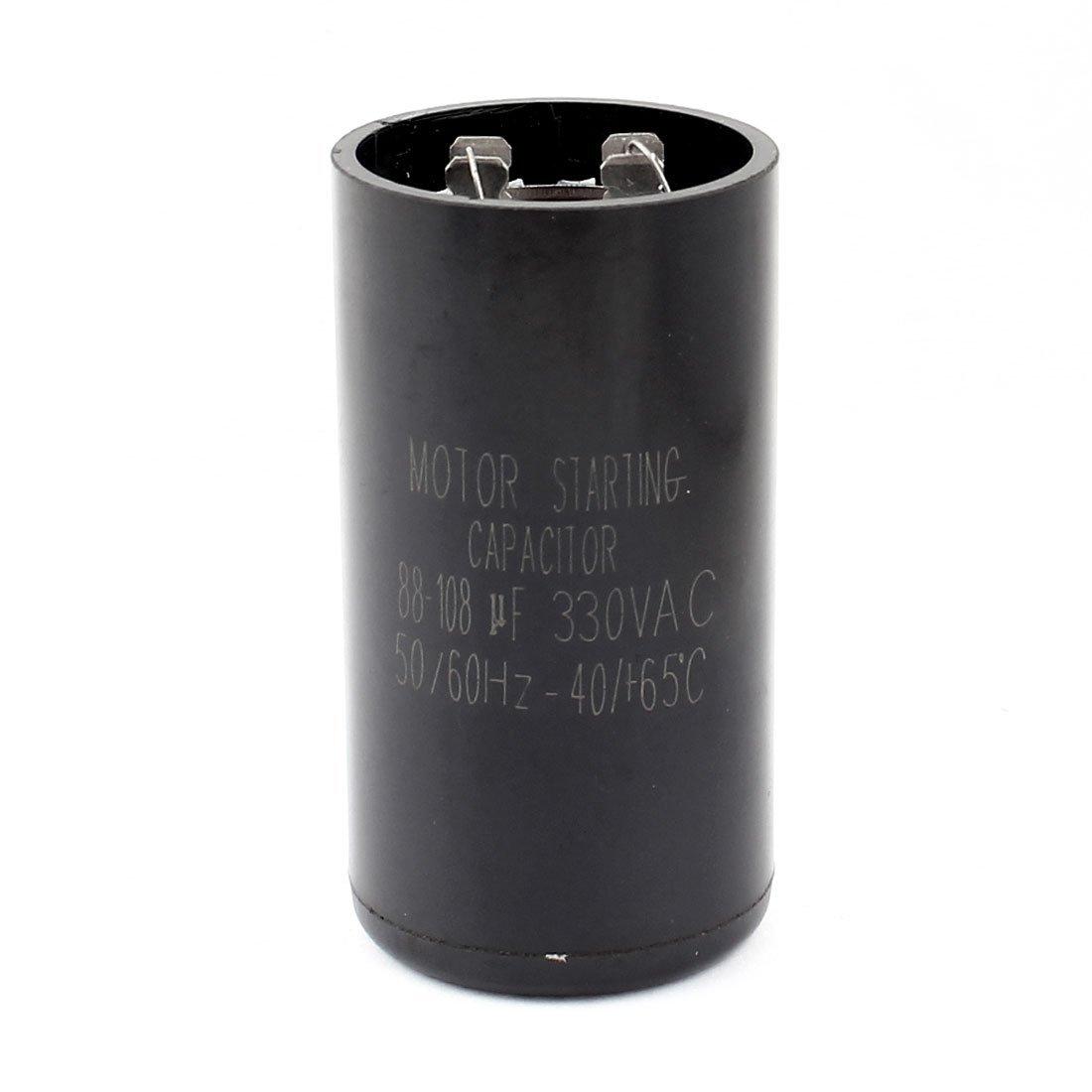 AC 330V 88-108uF Aire acondicionado Compresor Condensador de arranque del motor Negro: Amazon.es: Industria, empresas y ciencia