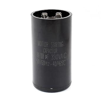 AC 330V 88-108uF Aire acondicionado Compresor Condensador de arranque del motor Negro