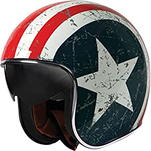 Origine Helmets Sprint Casque Moto Type Jet, Multicolore (Star), S