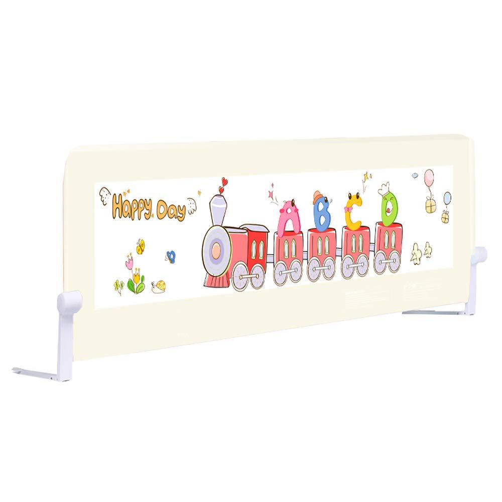 ベッドレール - 幼児用換気メッシュ付きシングル折りたたみ式セーフティベッドレール高さ66cm - 子供用クイーンサイズベッドガード - 安全な睡眠 180cm(70.9 inch)  B07QZGH4CG