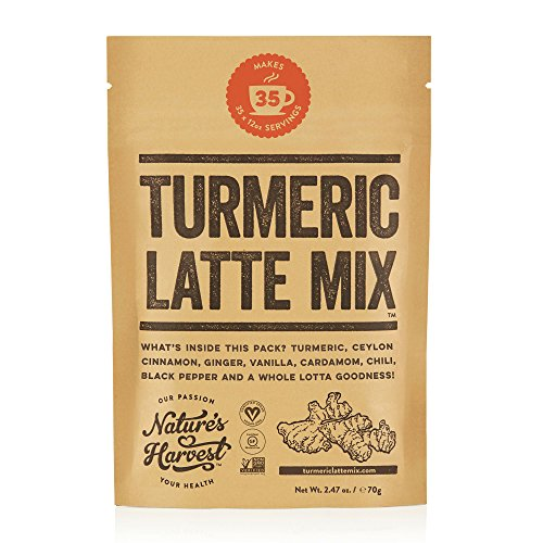 - Nature's Harvest Turmeric Latte Mix - Organic Golden Milk Powder with Curcumin, Healthy Herb Blend for Coffee, Tea, Smoothies - 35 Servings