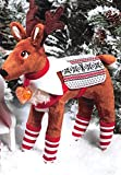 Elf Pets: A Reindeer Tradition with Cuddly Reindeer and Polar Pattern Reversible Saddle Blanket and Socks