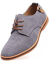 Men's Classic Suede Leather Oxford Dress Shoes Business Casual Shoes