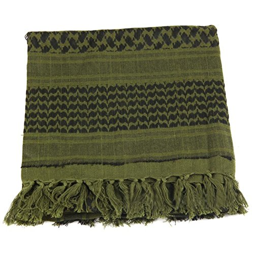 Shemagh Tactical Scarf 8 in 1 Large Thick Military Desert Keffiyeh Head Neck Arabe Scarf by Wildoor